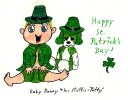 Happy St. Patrick's Day from baby Danny & his stuffie - 'Patty'