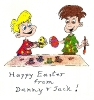 Danny, Jack & Painting Easter Eggs