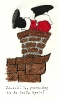 Santa Jack never thought going down a chimney could be so hard